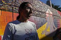 Pintor Rene Linares de Guadalajara  realiza un proyecto de mural en el Centro Historico de Hermosillo como parte de los proyectos art&iacute;sticos de  Casa Madrid <br /> <br /> 16Diciembre2015.<br /> CreditoFoto:LuisGutierrez