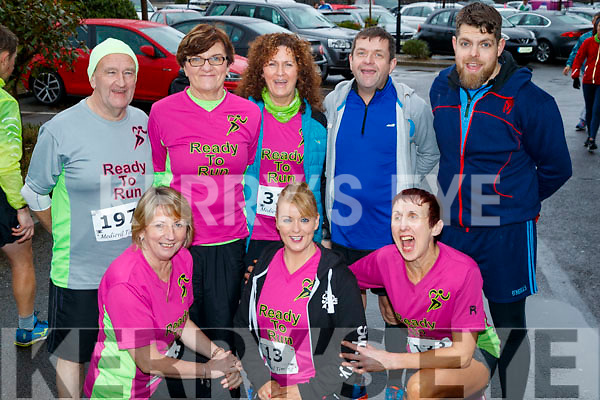 Ready to Run group who took part in the Optimal Fitness 10 miler and 5k road race, at The Rose Hotel, Tralee, on Sunday morning last, were front l-r: Catherine Conroy, Eileen Brennan and Anne O'Leary. Back l-r: George Glove, Joan Glover, Marie Hickey, Mike Donovan and Cathal King (Castleisland and Knocknagoshel).