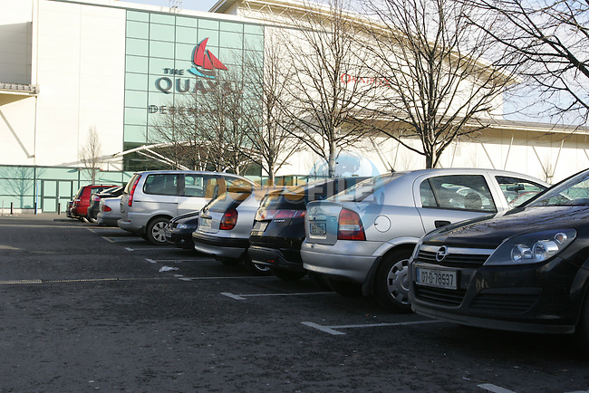 Irish Shoppers take over the quays shopping centre in Newry, Southern registered  cars outnumber northern registered 5 to 1 in the car park with people from as far as Galway, Fillin gup with Cheap Drink and Food..Trolly load after trolly load of drink when through the tills..(Management of Sainsburys refused entry to the photographer) Images were captured unknown to management..Photo: Fran Caffrey/www.newsfile.ie..NO REPO FEE ON THESE PICTURES.