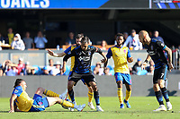 San Jose, CA - Sunday October 21, 2018: Chris Wondolowski during a Major League Soccer (MLS) match between the San Jose Earthquakes and the Colorado Rapids at Avaya Stadium.