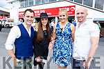 Conor O'Neill (Listowel), Angela O'Connor (Six Crosses), Aoife O'Connell (Listowel) and David Lyons (Listowel) at the Listowel Races on Sunday.
