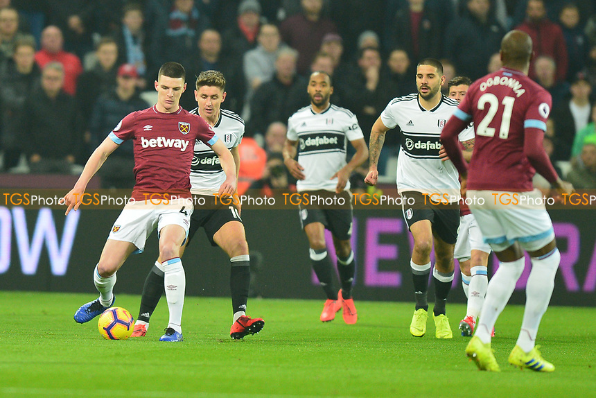 Declan Rice of West Ham United during West Ham United vs Fulham, Premier League Football at The London Stadium on 22nd February 2019