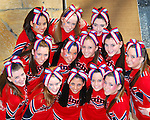 St. Martin's Cheerleaders pose prior to a dance competition.