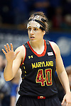 11 February 2013: Maryland's Katie Rutan. The Duke University Blue Devils played the University of Maryland Terrapins at Cameron Indoor Stadium in Durham, North Carolina in an NCAA Division I Women's Basketball game. Duke won the game 71-56.