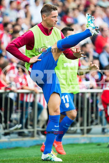 Atletico de Madrid's player Fernando Torres during a match of La Liga Santander at Vicente Calderon Stadium in Madrid. September 17, Spain. 2016. (ALTERPHOTOS/BorjaB.Hojas) /NORTEPHOTO