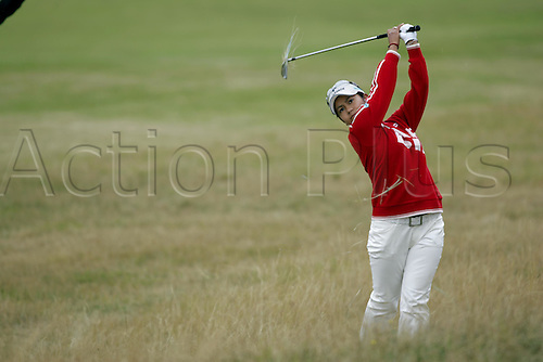 31 July 2005: Japanese golfer Ai Miyazato (JPN) looks into the distance after playing from thick rough on the 1st during the Weetabix Women's British Open Championship played at Royal Birkdale. Photo: Glyn Kirk/Actionplus....050731 woman ladies