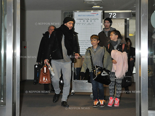 Jude Law, Tokyo, Japan, February 13, 2012 : Actor Jude Law and his children, Iris and Rudy, arrive at Narita International Airport in Chiba prefecture, Japan on February 13, 2012. He is visiting Japan to promote his new Sherlock Holmes movie, Sherlock Holmes : A Game of Shadows.