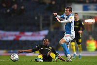 Blackburn Rovers' Joe Rothwell battles for the ball<br /> <br /> Photographer Dave Howarth/CameraSport<br /> <br /> The EFL Sky Bet Championship - Blackburn Rovers v Brentford - Wednesday 27th November 2019 - Ewood Park - Blackburn<br /> <br /> World Copyright © 2019 CameraSport. All rights reserved. 43 Linden Ave. Countesthorpe. Leicester. England. LE8 5PG - Tel: +44 (0) 116 277 4147 - admin@camerasport.com - www.camerasport.com