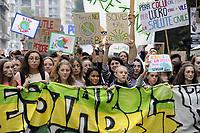"""- Milano, 27 Settembre 2019, manifestazione di giovani e studenti """"Global Strike for Future"""", in protesta contro i cambiamenti climatici ed il riscaldamento globale<br /> <br /> - Milan, 27 September  2019, """"Global Strike for Future"""" youth and student demonstration, in protest against climate change and global warming"""