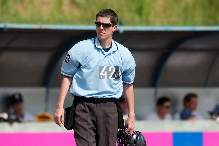 23 May 2009: The home plate umpire is seen during the 2009 challenge de France, a tournament with the best French baseball teams - all eight elite league clubs - to determine a spot in the European Cup next year, at Montpellier, France. Rouen wins 6-2 over La Guerche.