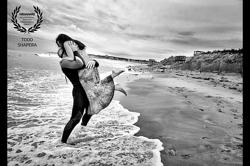 On their wedding day, Pooja and Travis wanted to share some quiet time on the beach at dawn.<br /> <br /> After the hugs, Travis went surfing!