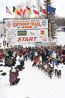 Joe Gans Willow restart Iditarod 2008.