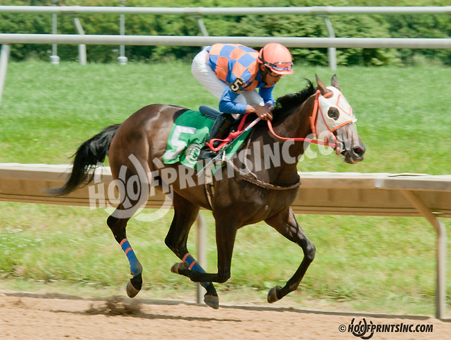 Easter Child winning at Delaware Park on 7/4/13