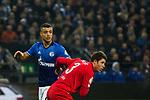 19.12.2017, Veltins-Arena , Gelsenkirchen, GER, DFB Pokal Achtelfinale, FC Schalke 04 vs 1. FC K&ouml;ln<br /> , <br /> <br /> im Bild | pictures shows:<br /> Franco Di Santo (FC Schalke 04 #9) gegen Dominique Heintz (1.FC Koeln #3), <br /> <br /> Foto &copy; nordphoto / Rauch