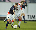 26/12/2004  Copyright Pic : James Stewart.File Name : jspa14_falkirk_v_airdrie.JOHN O'NEIL AND MARVIN WILSON CHALLENGE FOR THE BALL....Payments to :.James Stewart Photo Agency 19 Carronlea Drive, Falkirk. FK2 8DN      Vat Reg No. 607 6932 25.Office     : +44 (0)1324 570906     .Mobile   : +44 (0)7721 416997.Fax         : +44 (0)1324 570906.E-mail  :  jim@jspa.co.uk.If you require further information then contact Jim Stewart on any of the numbers above.........