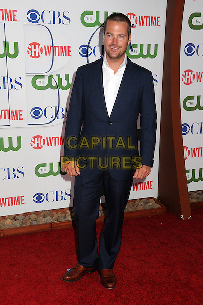 Chris O'Donnell.CBS, CW and Showtime Summer 2011 TCA Party held at The Pagoda, Beverly Hills, California, USA..August 3rd, 2011.full length shirt suit blue white stubble facial hair.CAP/ADM/BP.©Byron Purvis/AdMedia/Capital Pictures.