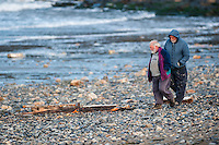 """Friday  29 April 2016<br /> Pictured: Members of the public look at the debris from the fishing vessel along the beach <br /> <br /> Re: Two fishermen who went missing after a boat sank in Pembrokeshire went overboard while lobster pots were being thrown into the sea.<br /> Gareth Willington, 59, from Carew, died after his boat The Harvester sank off St David's Head on 28 April.<br /> The body of his son, Daniel, 32, has never been found.<br /> Gareth Willington was not wearing a lifejacket when he was found, a report by the Marine Accident Investigation Branch said.<br /> The investigation found the pair were lobster fishing near Ramsay Island when Daniel Willington may have become entangled in ropes on the deck.<br /> His father may have tried to help him before both men went into the water """"in quick succession"""", it said."""