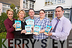 BOOK LAUNCH: Launching their first publication From the Back Window, a book which has creative stories, poems and views from the FETAC level 5 class in Listowel Community College will be launched today (Thursday) in St John's Art's Theatre, Listowel. .Pictured from front l-r were: Susan Hitching, Vincent O'Brien, Jessica Hilliard with Carmel Kelly (Principal) and Stephen Goulding (Deputy Principal) at the back.