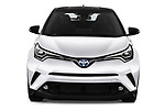 Car photography straight front view of a 2018 Toyota C-HR C-LUB hybrid 5 Door SUV