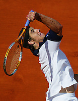 29-5-06,France, Paris, Tennis , Roland Garros, Gasquet in his  first round match