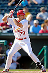 28 February 2007: St. Louis Cardinals infielder Tagg Bozied at bat during a pre-season Grapefruit League game against the Florida Marlins on Opening Day for Spring Training at Roger Dean Stadium in Jupiter, Florida. The Cardinals and Marlins share Roger Dean Stadium and the training facilities which opened in 1998 as a co-development between the Cardinals and the Montreal Expos.<br /> <br /> Mandatory Photo Credit: Ed Wolfstein Photo