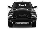 Car photography straight front view of a 2019 Ram 1500 Rebel 4 Door Pick Up