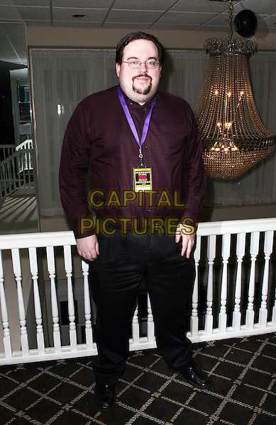 "JAMES TRACEY .8th Annual New Jersey Film Festival World wide screening of ""The Camera's Eye"" held at the Berkeley Hotel Asbury Park New Jersey, Asbury Park, NJ, USA,.27th March 2010..full length glasses brown maroon burgundy shirt goatee beard facial hair .CAP/ADM/PZ.©Paul Zimmerman/Admedia/Capital Pictures"