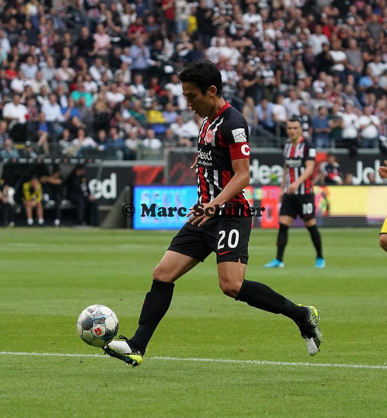 Makoto Hasebe (Eintracht Frankfurt) - 22.09.2019: Eintracht Frankfurt vs. Borussia Dortmund, Commerzbank Arena, 5. Spieltag<br /> DISCLAIMER: DFL regulations prohibit any use of photographs as image sequences and/or quasi-video.