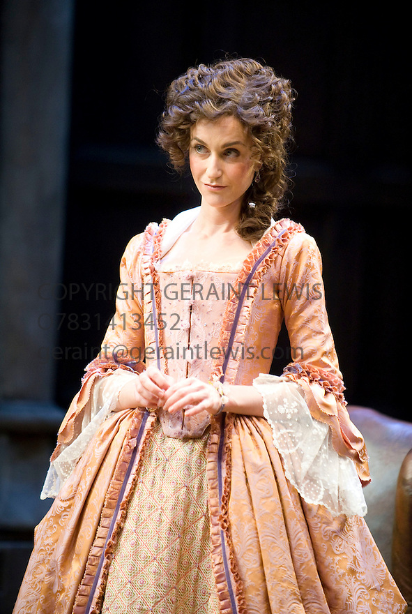 She Stoops To Conquer by Oliver Goldsmith directed by Jamie Lloyd. With  Katherine Kelly as Kate Hardcastle. Opens at The Olivier Theatre at The National Theatre  on 31/1/12 . CREDIT Geraint Lewis