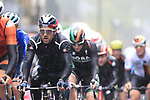 Riders including Sonny Colbrelli (ITA) tackle the 9 laps of the Harrogate circuit during the Men Elite Road Race of the UCI World Championships 2019 running 261km from Leeds to Harrogate, England. 29th September 2019.<br /> Picture: Eoin Clarke | Cyclefile<br /> <br /> All photos usage must carry mandatory copyright credit (© Cyclefile | Eoin Clarke)