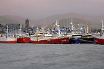 Trawlers berwthed at Dingle pier this week as heavy storms batter the coast.<br /> Picture by Don MacMonagle<br /> Story by Lynn kelleher