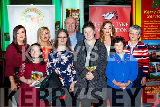 Killarney Stars club members at the Killarney I'm a Celebrity in the INEC on Thursday night front row l-r: Siobhain Looney, Martina McCarthy, Cliona Palmer, Breda Healy Back row: Aoife O'Brien, Catriona Carroll, Tom Tobin, Eva Moynihan, Joan O'Connor