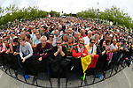 The 176 contenders of the 105th Tour de France 2018 were introduced to the crowd in Napoleon Square of La Roche-sur-Yon, France. 5th July 2018. <br /> Picture: ASO/Bruno Bade | Cyclefile<br /> All photos usage must carry mandatory copyright credit (&copy; Cyclefile | ASO/Bruno Bade)