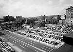 Pittsburgh PA:  View across the Boulevard of the Allies toward 3rd and Liberty Avenues before Gateway Center - 1949
