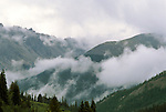 Clouds and rain over Independence Pass, Rocky Mountain National Forest.