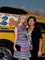 Aug. 29, 2013; Avon, IN, USA: Movie actress Ashley Hinshaw (left) with her mother during the premiere of Snake & Mongoo$e at the Regal Shiloh Crossing Stadium 18. Mandatory Credit: Mark J. Rebilas-