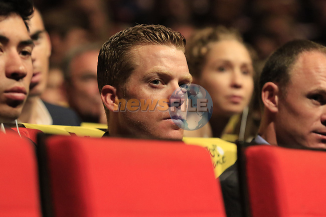 Steven Kruijswijk (NED) at the Tour de France 2020 route presentation held in the Palais des Congrès de Paris (Porte Maillot), Paris, France. 15th October 2019.<br /> Picture: Eoin Clarke | Cyclefile<br /> <br /> All photos usage must carry mandatory copyright credit (© Cyclefile | Eoin Clarke)