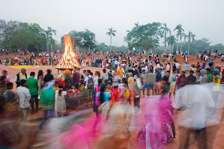 Auroville bonfire 2017
