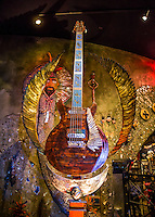 LAS VEGAS, NV - January 16 : pictured as House of Blues Las Vegas unveils 13-foot high guitar sculpture ?Wings of Legend? that will commemorate the return of Carlos Santana's residency: An Intimate Evening with Santana: Greatest Hits Live - Yesterday, Today & Tomorrow and continue the 20th Anniversary celebration of the House of Blues brand at House of Blues at Mandalay Bay in Las Vegas, Nevada on January 16, 2013. Credit: Kabik/Starlitepics/MediaPunch Inc. ***HOUSE COVERAGE*** /NortePhoto