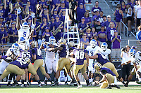 Sept 20, 2014:  Washington's Cameron Van Winkle against Georgia State.  Washington defeated Georgia State 45-14 at Husky Stadium in Seattle, WA.