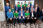 Members of the Kerry U16 Pitch and Putt team receiving their Kerry County Council and Municipal District Awards, pictured with members of the Killarney Municipal District at the ceremony in the Rose Hotel on Thursday night.