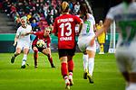 01.05.2019, RheinEnergie Stadion , Köln, GER, DFB Pokalfinale der Frauen, VfL Wolfsburg vs SC Freiburg, DFB REGULATIONS PROHIBIT ANY USE OF PHOTOGRAPHS AS IMAGE SEQUENCES AND/OR QUASI-VIDEO<br /> <br /> im Bild | picture shows:<br /> Nilla Fischer (VfL Wolfsburg #4) im Duell, <br /> <br /> Foto © nordphoto / Rauch
