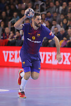 VELUX EHF 2017/18 EHF Men's Champions League Group Phase - Round 11.<br /> FC Barcelona Lassa vs HC Vardar: 29-28.<br /> Raul Entrerrios.