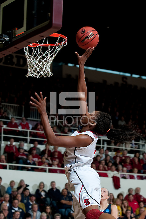 STANFORD, CA - MARCH 19, 2011: Nnemkadi Ogwumike at Maples Pavilion, March 19, 2010 in Stanford, California.