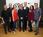 "John Plumpis, Ron McClary, Victoria Mack, Jeffrey C. Hawkins, Scott Alan Evans, Karl Kenzler, Dana Smith-Croll and Joel Jones attends the TACT/The Actors Company Theatre Cast Meet & Greet for  ""Three Wise Guys"" on February 15, 2018 at the TACT Studios in New York City."