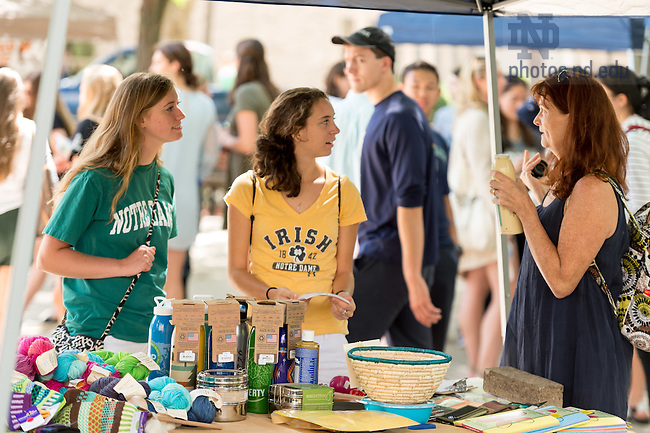 August 21, 2016; Welcome Weekend Farmers Market (Photo by Matt Cashore/University of Notre Dame)