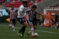 GUADALAJARA,JAL. AUGUST 4,2013. Carlos Fierro of Chivas during the game of Liga MX between Chivas against Atlante at Omnilife Stadium. // Carlos Fierro de Chivas durante el juego  de La Liga MX entre Chivas vs Atlante en el Estadio Omnilife. <br /> PHOTOS: NORTEPHOTO/GERMAN QUINTANA**CR&Eacute;DITO OBLIGATORIO** **USO EDITORIAL** **NO VENTAS** **NO ARCHIVO**