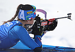 10/02/2017, Hochfilzen - IBU World Championships Biathlon 2017 Hochfilzen.<br /> Women 7.5 km Sprint race in Hochfilzen, Austria on February 10, 2017. Alexia Runggaldier