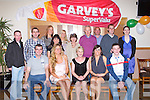 NATIONAL AWARD: The staff of Garvey's Supervalu, Tralee celebrating their 2012 Best Fish Counter of Ireland award at Kerins O'Rahillys clubhouse, Tralee on Saturday seated l-r: Andrew Barrett, Denise O'Donnell, Terry Griffin, Sandra Lynch and Ger Ryan. Back l-r: Keith O'Sullivan, Kevin O'Donoghue, Deborah Reid, Martina O'Brien, Sean Walsh, Mary Tuohy, Gerry Hanafin, Gary O'Donnell, Maurice McAuliffe and Sinead Maddigan...
