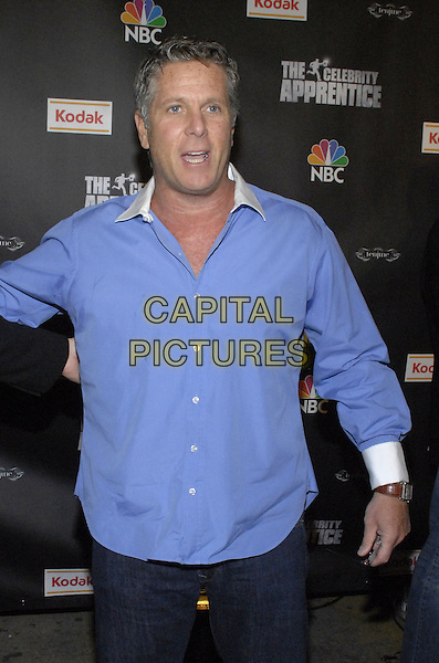 "DONNY DEUTSCH.Viewing party for ""The Celebrity Apprentice"" at Tenjune sponsored by Kodak, New York, New York, USA..February 7th, 2008.half length blue shirt .CAP/ADM/BL.©Bill Lyons/AdMedia/Capital Pictures. *** Local Caption ***"
